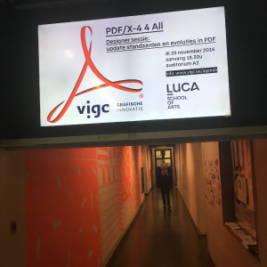 Top PDF/X-4 4 ALL event @LUCA School of Arts in Gent!