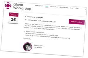 Ghent Workgroup meetings in Krakau en top PDF webinars!
