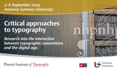 Nieuw: Summerschool over typografie
